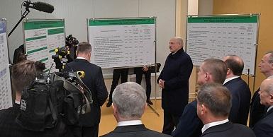 Президент Беларуси совершает рабочую поездку в Шклов
