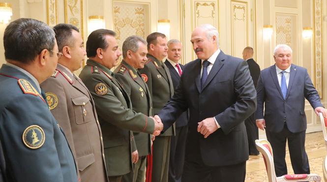 Встреча Александра Лукашенко с руководителями оборонных ведомств государств – членов ОДКБ