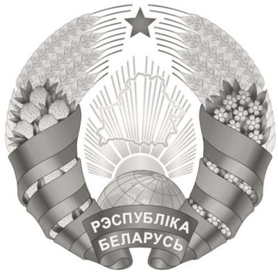 Одноцветное изображение Государственного герба Республики Беларусь (серебряное)